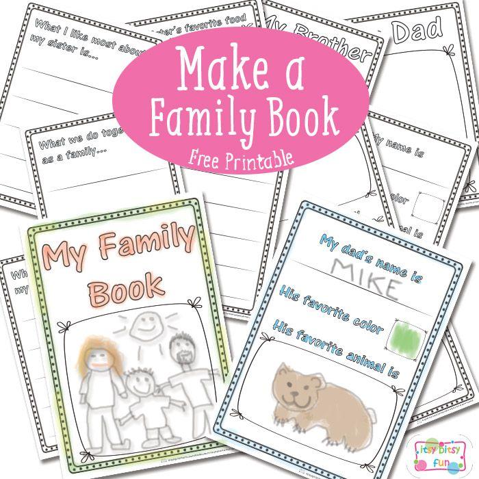 Family Book - Free Printable | Ssw, Grundschulen und Englisch