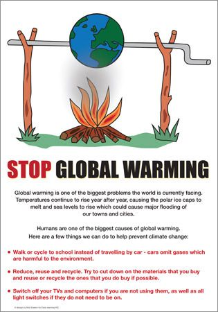 005 Global Warming Poster Sustainability School Project