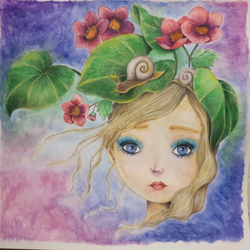 J Ai Termine Mon Premier Projet Fait Aux Crayons Aquarelle Faber