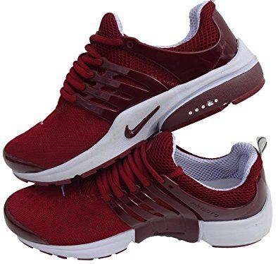 NIKE Air Presto Basket pour homme Blanc/rouge Taille 42