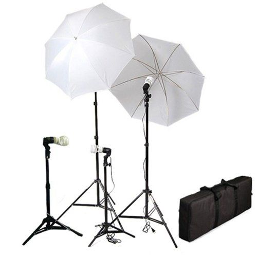 Cowboystudio 4 Piece Continuous Photography /Video Studio Digital Lighting Kit with Umbrellas and Background Lights