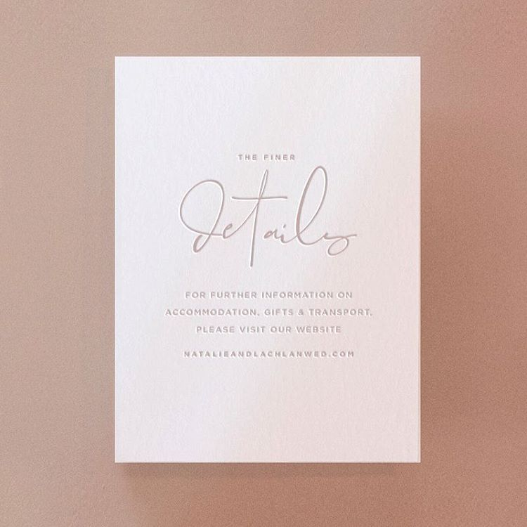 All The Finer Details Enclosure Card From Our Georgia Collection Wedding Invitation Details Card Wedding Prints Wedding Stationery