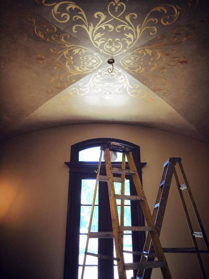 Great project by Fabulous Finishes using custom stencils by Modello Designs