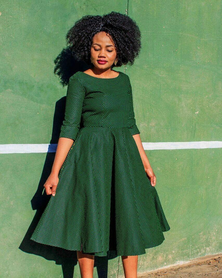 Seshoeshoe Seshweshwe Sesotho Leteisi Dress