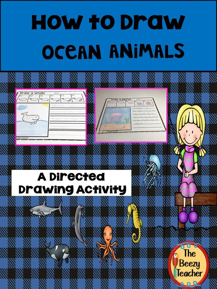Ocean Animals A How to Draw Directed Drawing Activity