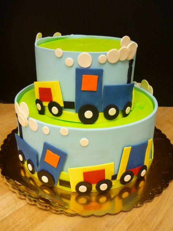 Choo Choo A Train Party Boy birthday Birthday cakes and Cake