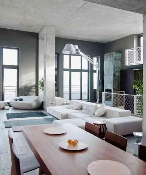 Salon avec salle à manger- 60 idées du0027aménagment Salons and Loft