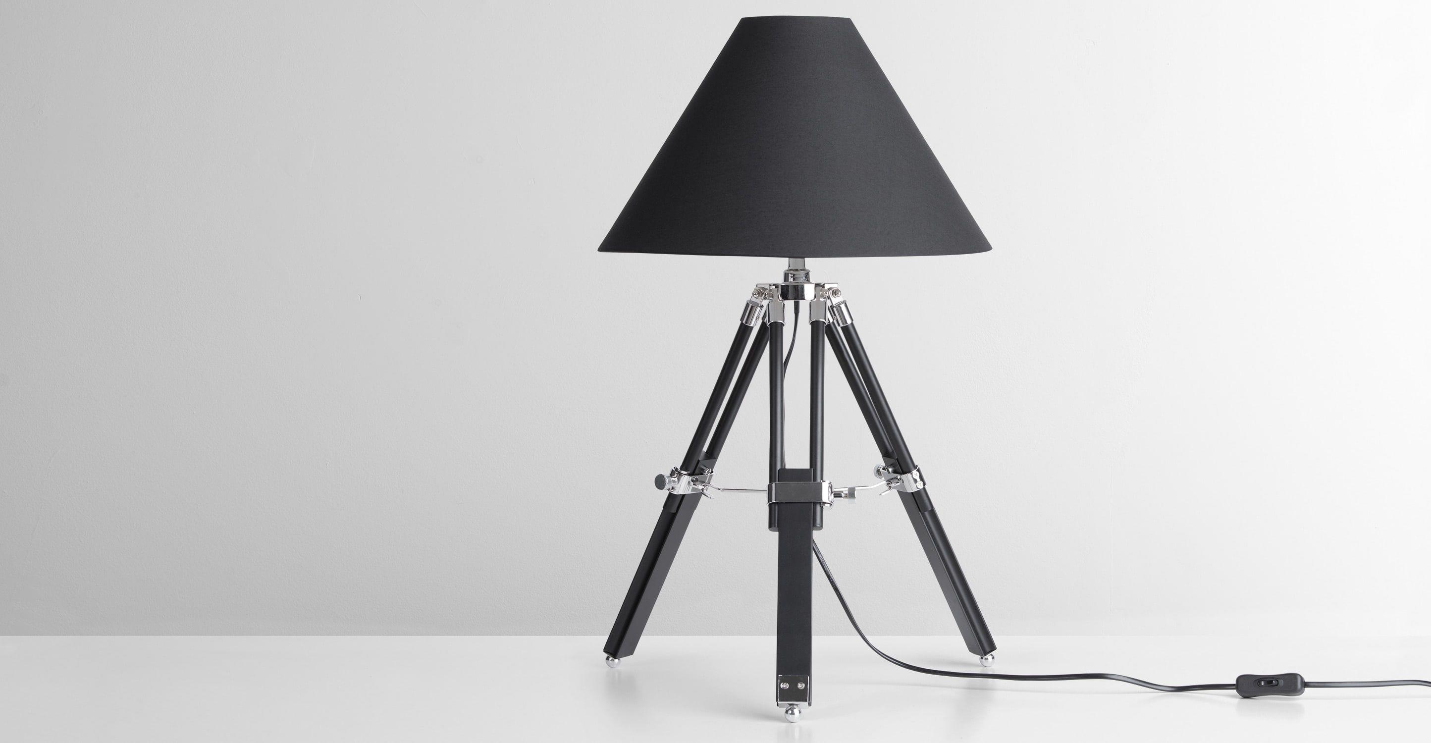 Navy tafellamp zwart zwart en lampen