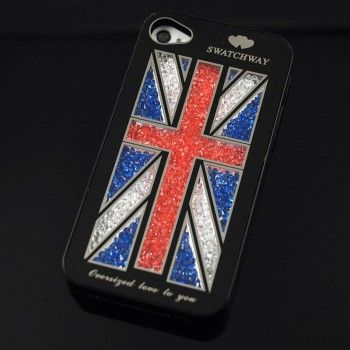 Shining UK Flag Crystal Iphone 4/4s/5 Case for only $14.90 ,cheap Creative Iphone Cases - Iphone Accessories online shopping,The Shining UK Flag Crystal Iphone 4/4s/5 Case is very individuality and beautiful.