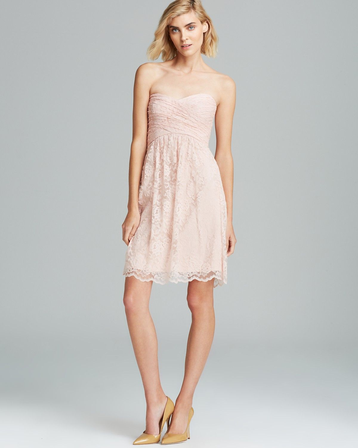 Amsale strapless lace dress bloomingdales bridesmaids amsale strapless lace dress bloomingdales ombrellifo Images