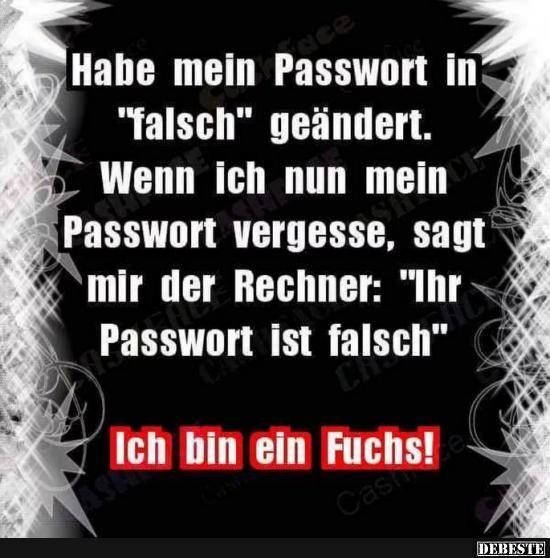 Habe Main Passwort In Falsch Geandert Lustige Bilder Spruche Witze Witzige Spruche Lustige Spruche Und Spruche