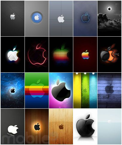 I love to put wallpapers featuring Apple logo on my phone