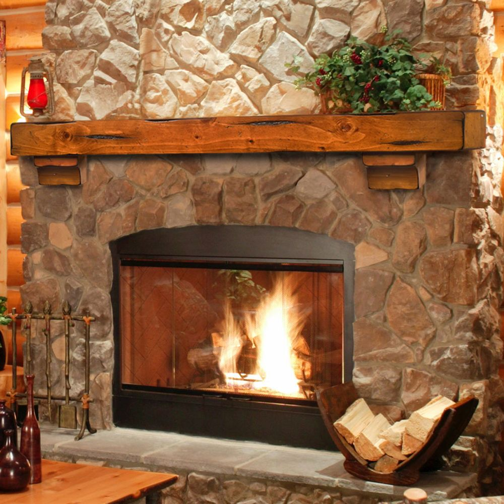 Breckenridge 60 Inch Wood Fireplace Mantel Shelf Traditional