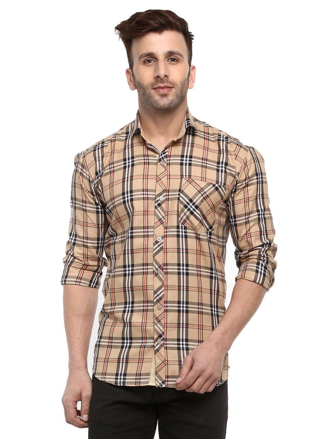 Buy Hangup Cream men shirt Online at Low prices in India