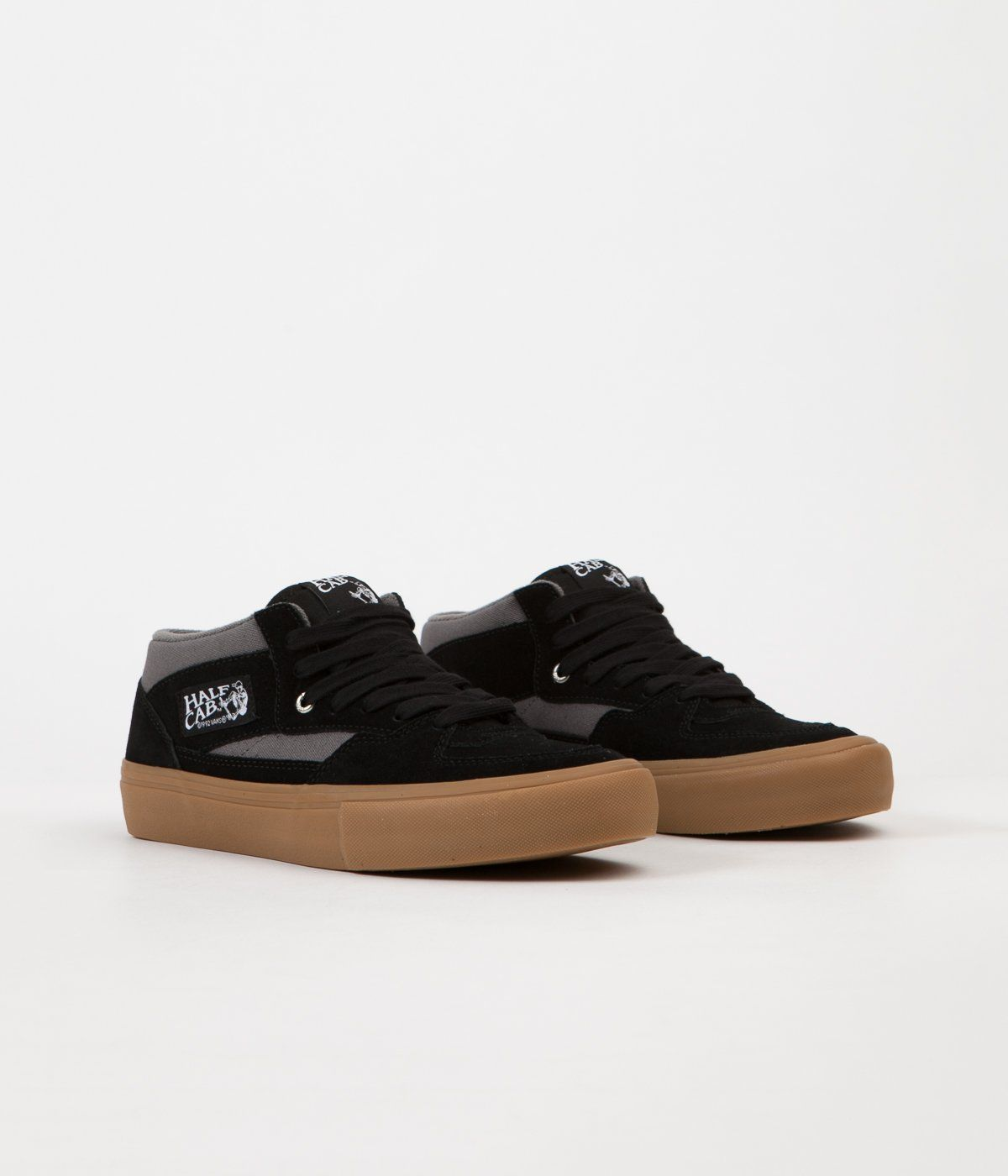 4c93016bd98d0f Vans Half Cab Pro Shoes - Black   Pewter   Gum