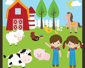 20% di sconto Farm Clip Art / fattoria animali Clipart / barnyard ...
