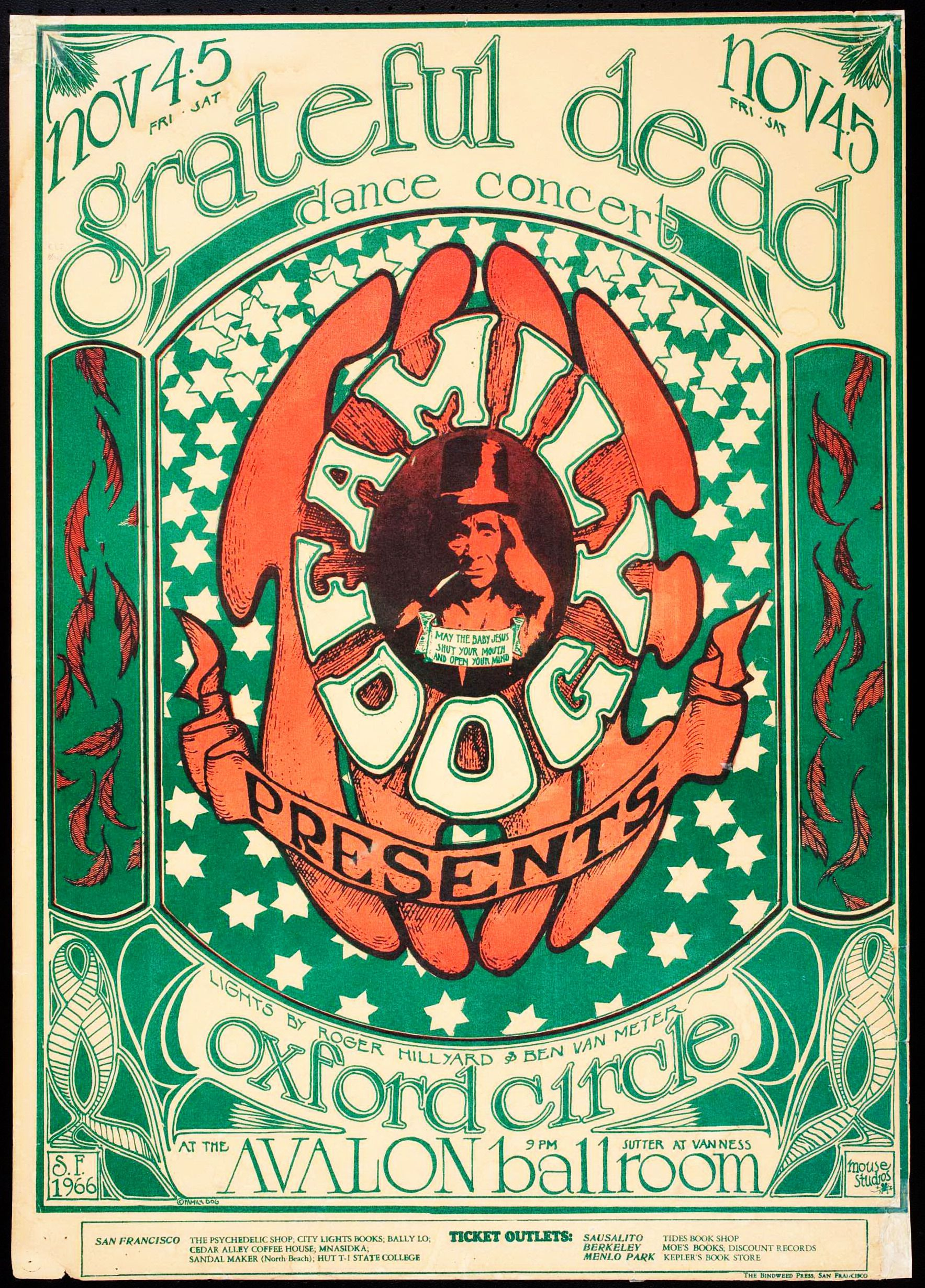 November 3-4, 1966 @ Avalon Ballroom - San Francisco Artists: Alton Kelley