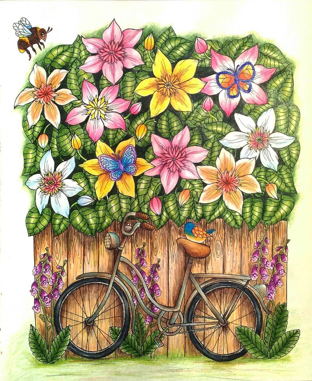 Missprefontaine On Instagram Twilightgarden Blomstermandala Mariatrolle Coloringbookforadults Coloring Colorings Coloringbook In 2020 Trolle Wenn Du Mal Buch