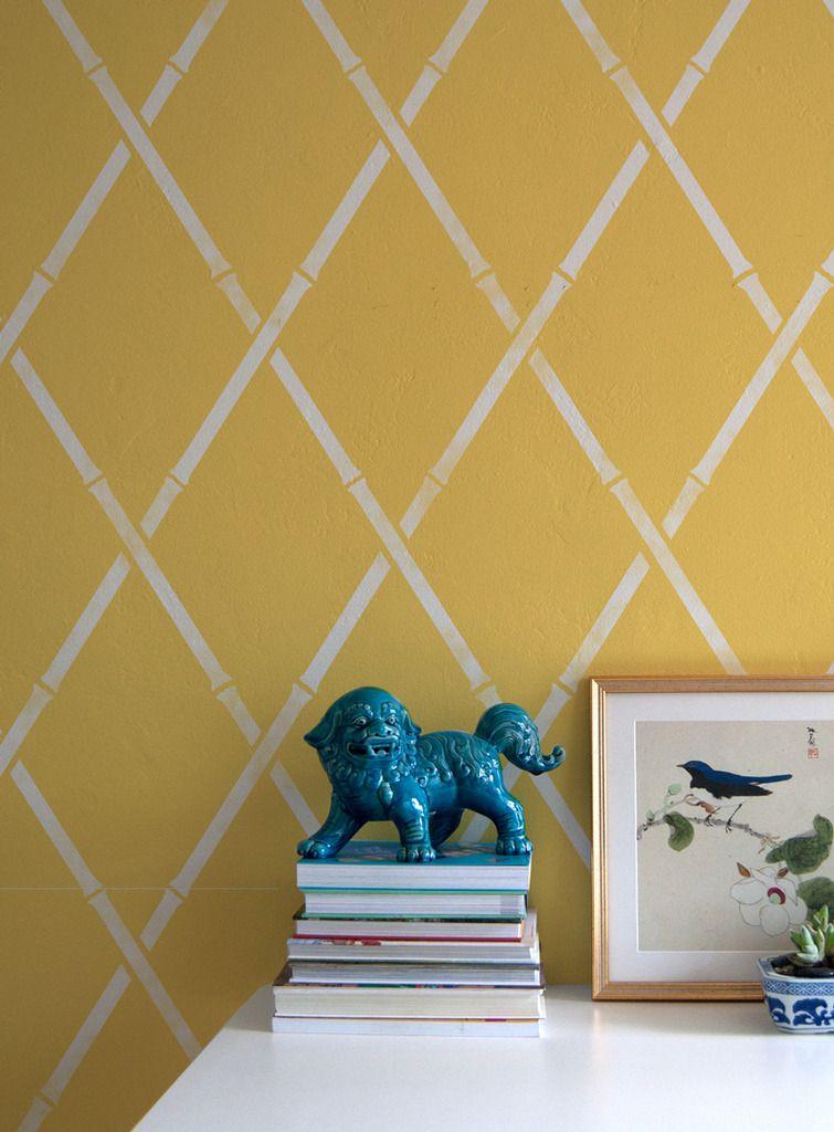 Wall Stencil | Pro Bamboo Trellis Stencil | Royal Design Studio ...