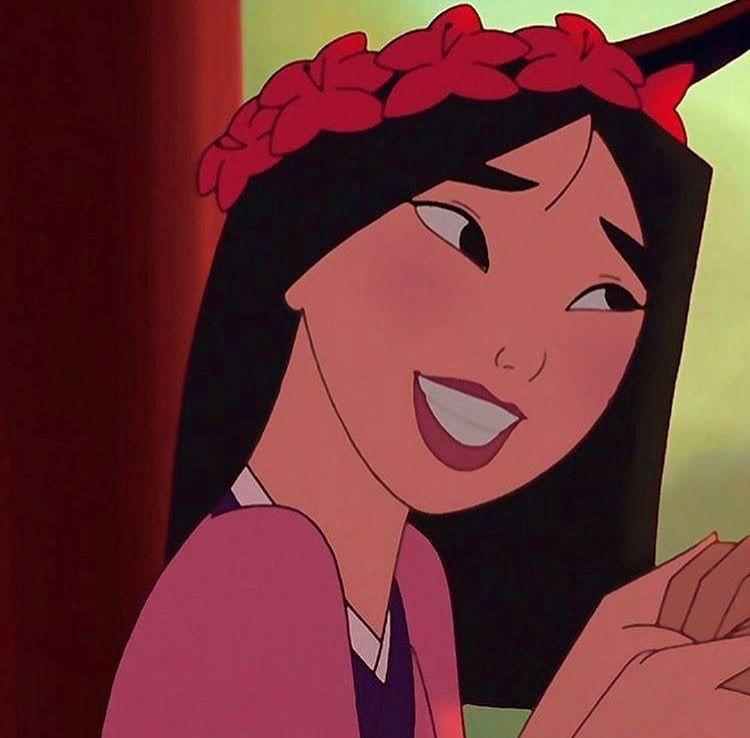 mulan💗 Cartoon profile pictures, Disney icons, Cartoon
