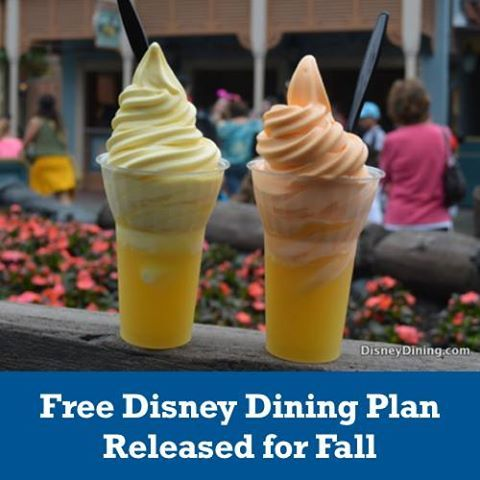 Free Dining for the Fall. This is an excuse to go now, right? :D