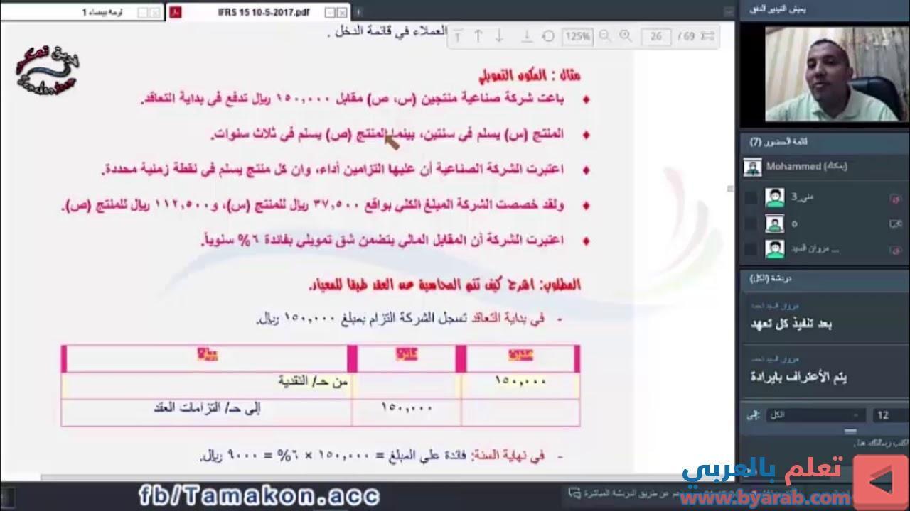معيار المحاسبة الدولي Ifrs 15 معايير المحاسبة الدولية والسعودية الايرادات من العقود مع ال
