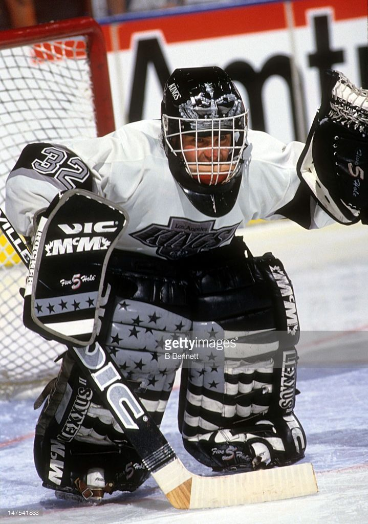 Goalie Kelly Hrudey Of The Los Angeles Kings Defends The Net During Picture Id147541833 719 1024 Goalie Mask Los Angeles Kings Goalie