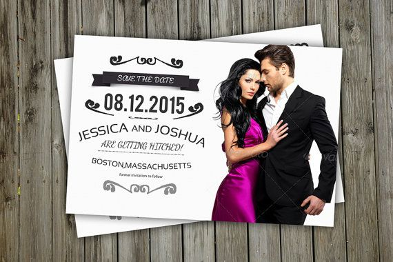 Save The Date Postcard Template Printable by TemplateStock