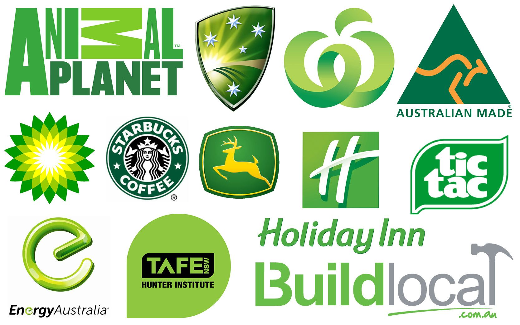 Image result for Green colored logos
