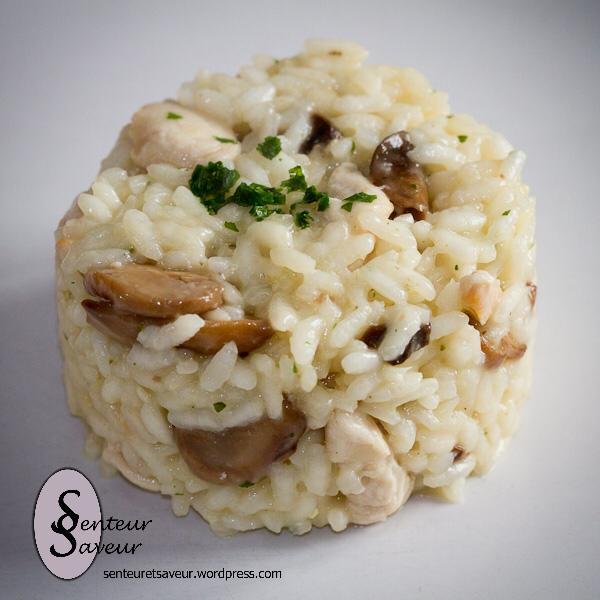 Risotto au poulet et aux champignons (avec images ...