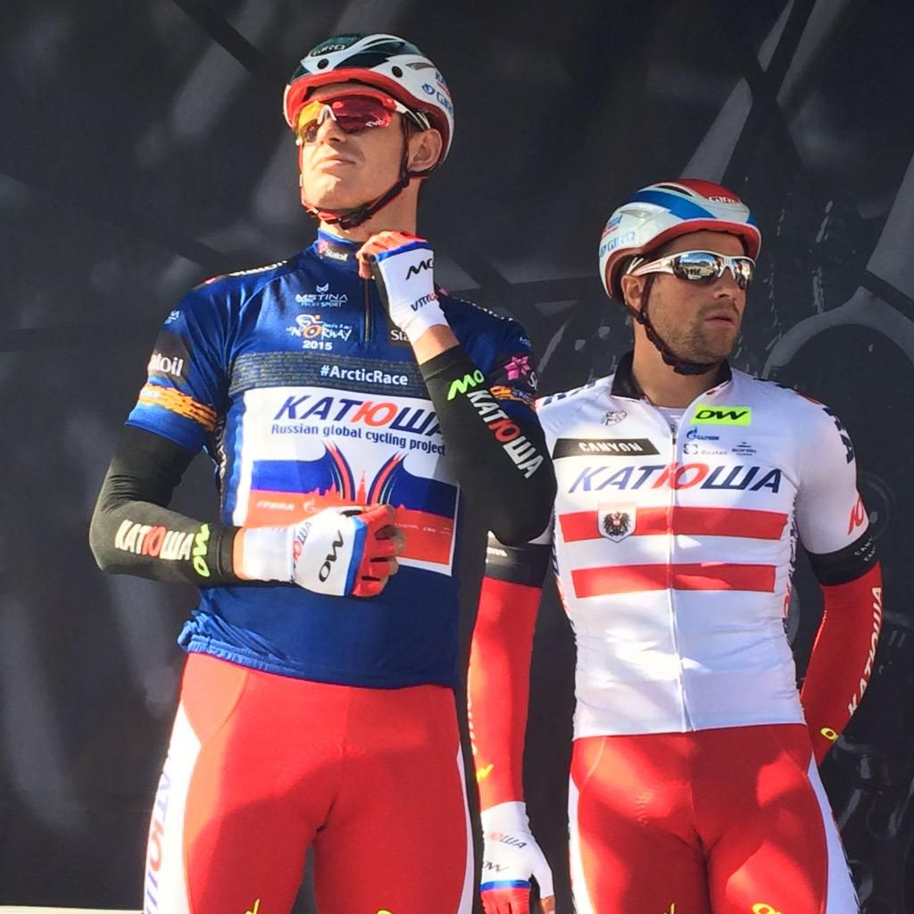 """ArcticRaceofNorway on Twitter: """"Can @Kristoff87 keep the blue jersey today? #ArcticRace http://t.co/jF2Nf073IC"""""""
