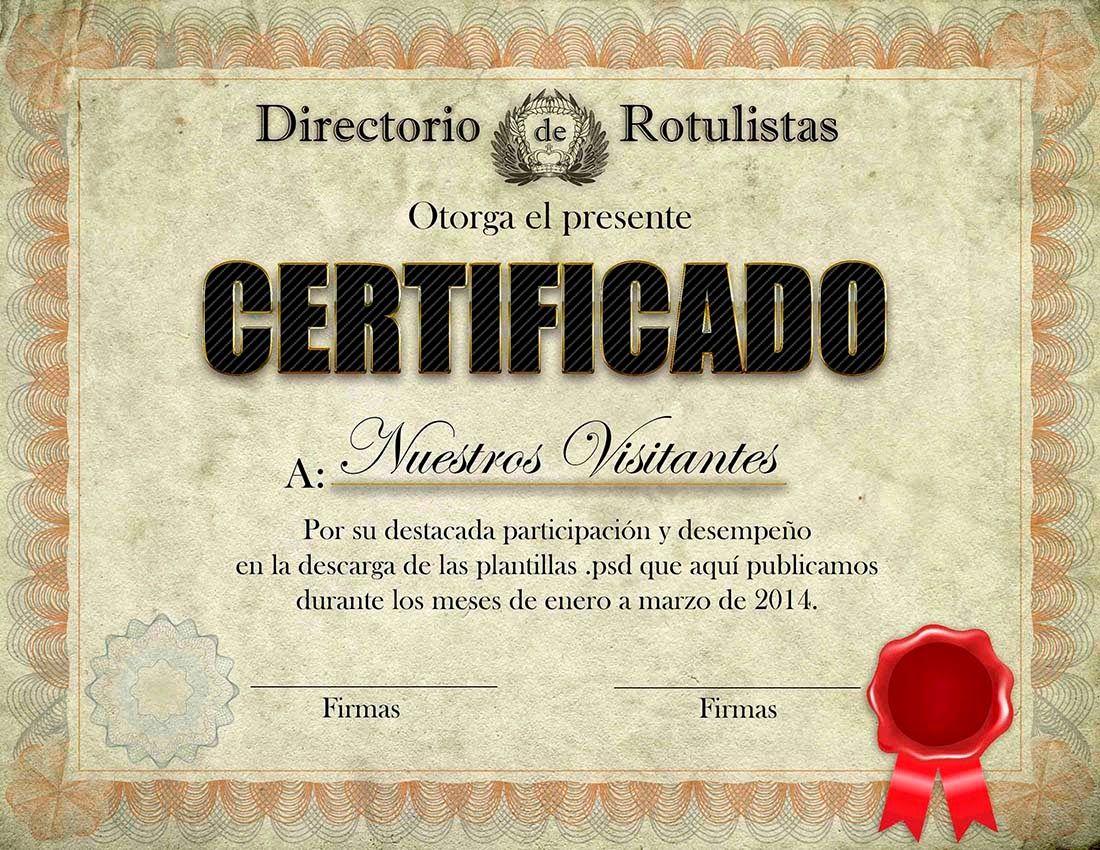 Diploma editable en formato .psd - Recursos para impresores y ...