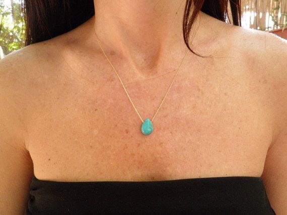Turquoise necklace mothers day gift birthstone necklace turquoise necklace mothers day gift birthstone necklace turquoise pendant tiny teal teardrop necklace gold necklace minimalist pendant aloadofball Choice Image