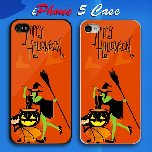 Happy Halloween and Time Bewitching Custom iPhone 5 Case Cover