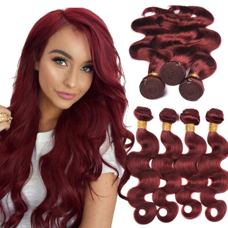 Brazilian Hair Weave Color 33 Rich Copper Red Hair Body Wave 4