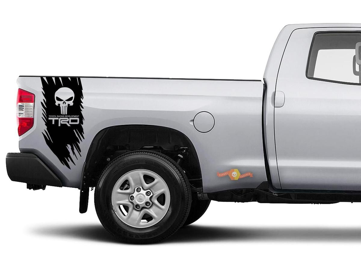 Product Toyota Trd Truck Off Road Punisher Skull Edition Decal Sticker Vinyl Truck Bed Side Graphic Truck Bed Trucks Punisher [ 873 x 1200 Pixel ]