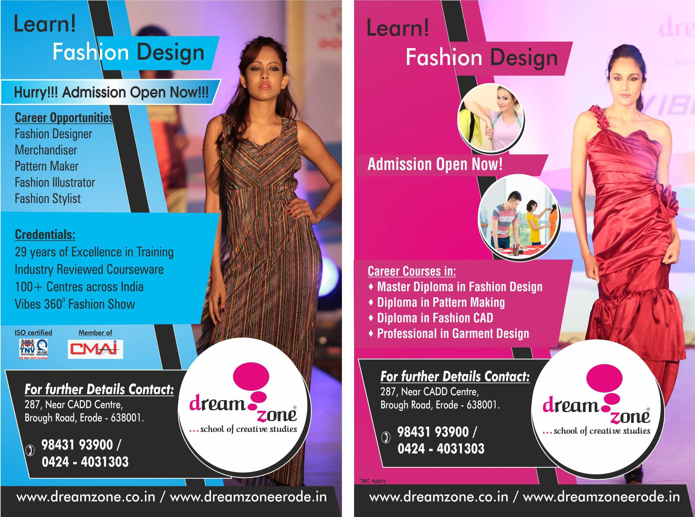 Pin By Dreamzone Erode On Animation And Web Designing Diploma In Fashion Designing Design Course Diploma Courses