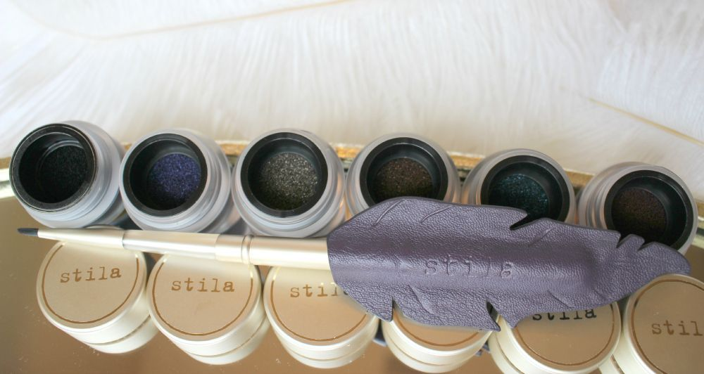Fall 2015 Modern Goddess Makeup Collection Review plus 20% off w/ FREE shipping: Got Inked™ Cushion Eye Liner, La Quill Precision Eye Liner Brush, Perfectly Poreless Putty Perfector, Wonder Brush, HUGE™ Extreme Lash Mascara NEW! stila fall holiday 2015 makeup collection - see photos, swatches, before/after photos AND see exclusive promo di