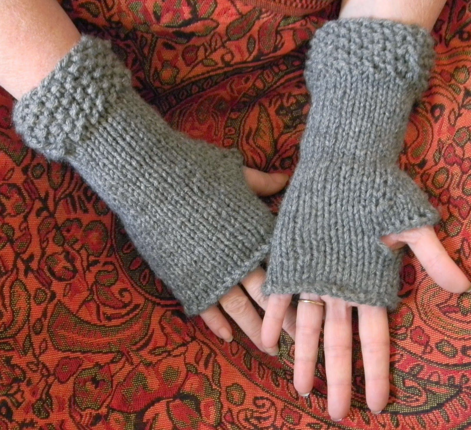 Fingerless Gloves Knitting Pattern Circular Needles Cool Decorating
