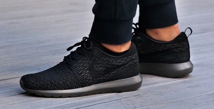 nike roshe run flyknit midnight fog