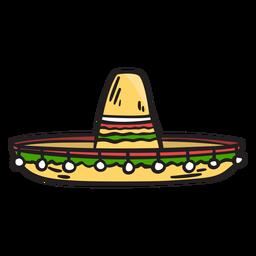 Hat Mexico Sombrero Illustration City Silhouette Sombrero Illustration
