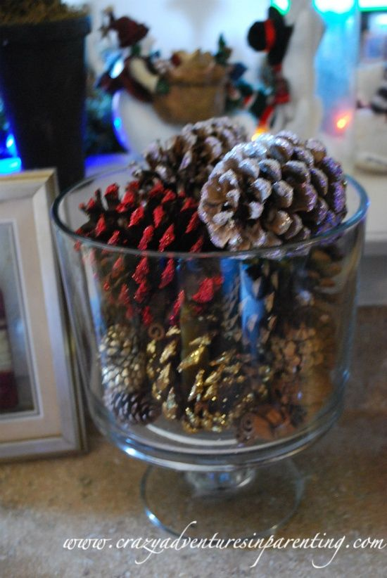 Cheap Decorate Scented Pinecones In A Trifle Bowl Or Vase Amazing Trifle Bowl Decorations