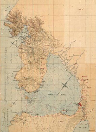 Mapa de la Bahía de Manila