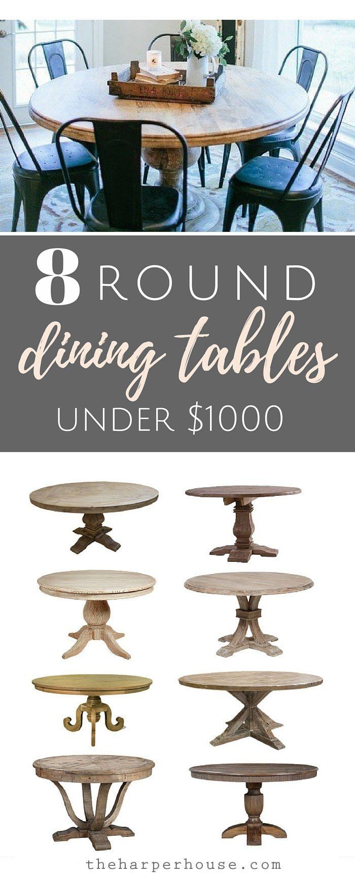 Round Dining Tables 8 Affordable Options