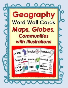 Photo of World Geography Terms Word Wall