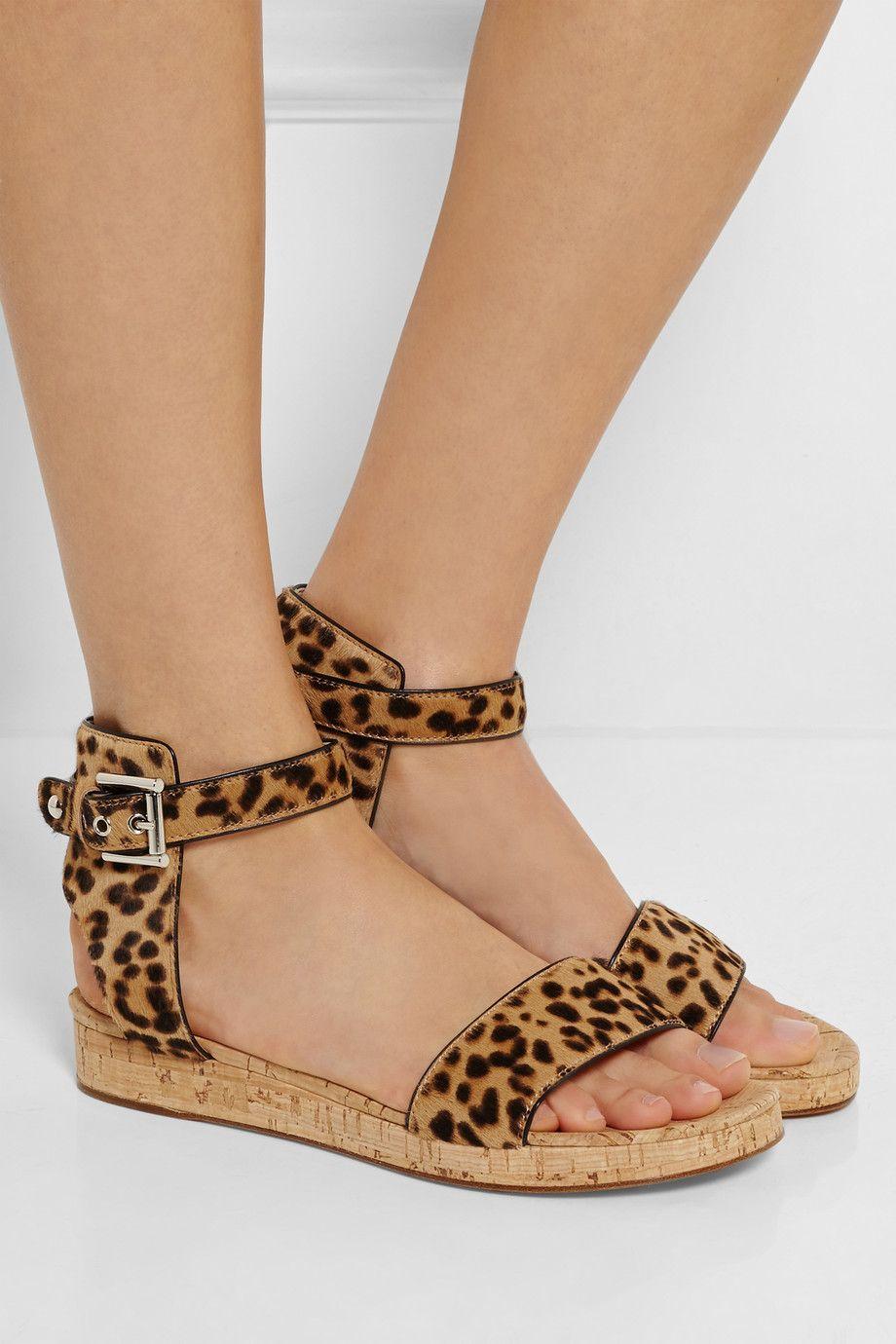 Leopard print Leopard-print calf hair