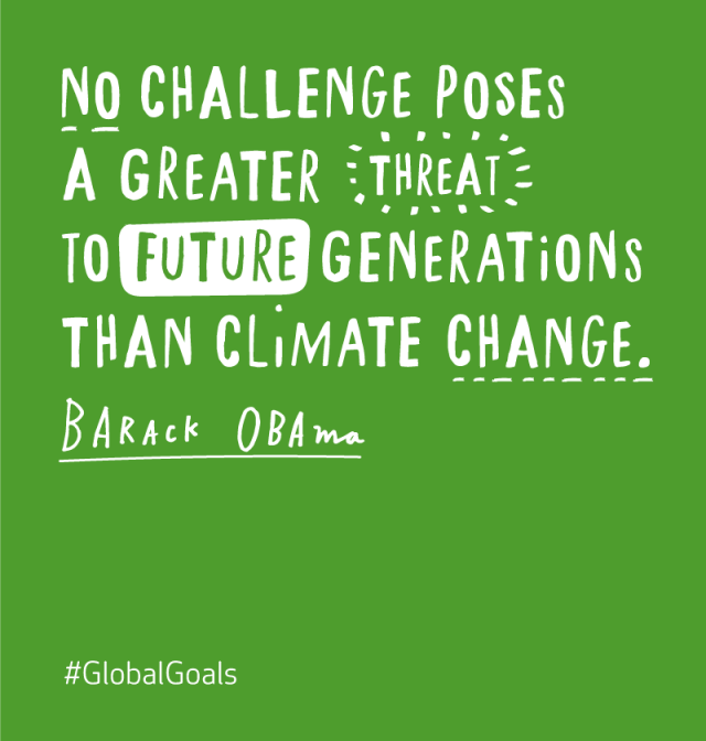 Climate Change Quotes: What Is Your Company Doing To Achieve The #GlobalGoals? In