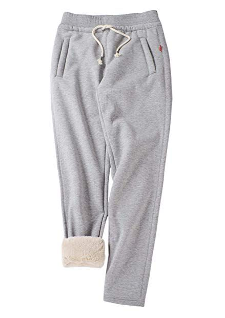 lowest discount 2019 professional boy Gihuo Women's Winter Fleece Pants Sherpa Lined Sweatpants ...
