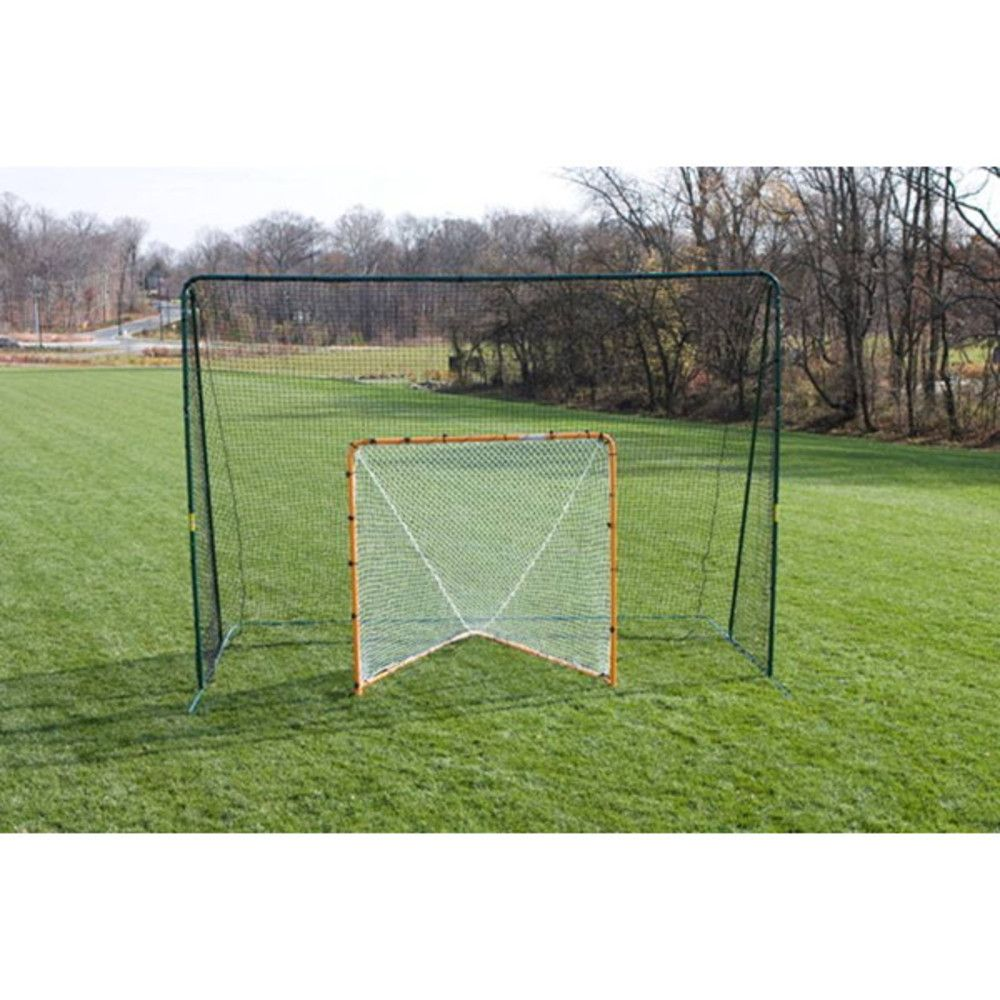 Laxstop 10 X14 Free Standing Lacrosse Goal Backstop By Foldfast Goals Lacrosse Goals Lacrosse Backyard Sports
