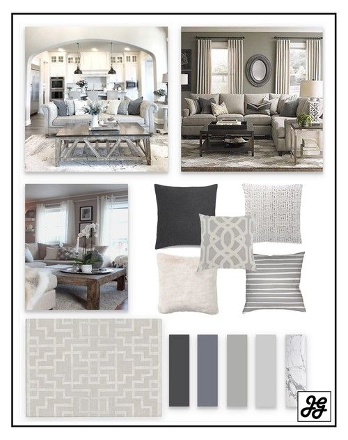 Mood Board Traditional Living Room Blue Neutral Pop Of Color